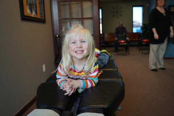 Chiropractic Glen Carbon IL Child Preparing for Adjustment