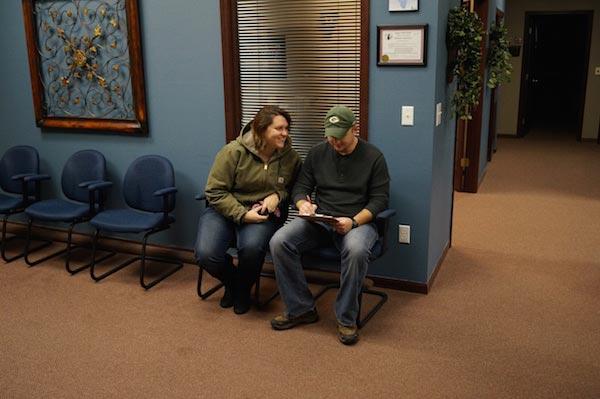 Chiropractic Glen Carbon IL Happy Patients in Waiting Room